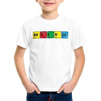 CottonCloud Sheldon Tabla Periódica Camiseta para Niños T-Shirt química: Amazon.es: Ropa y accesorios