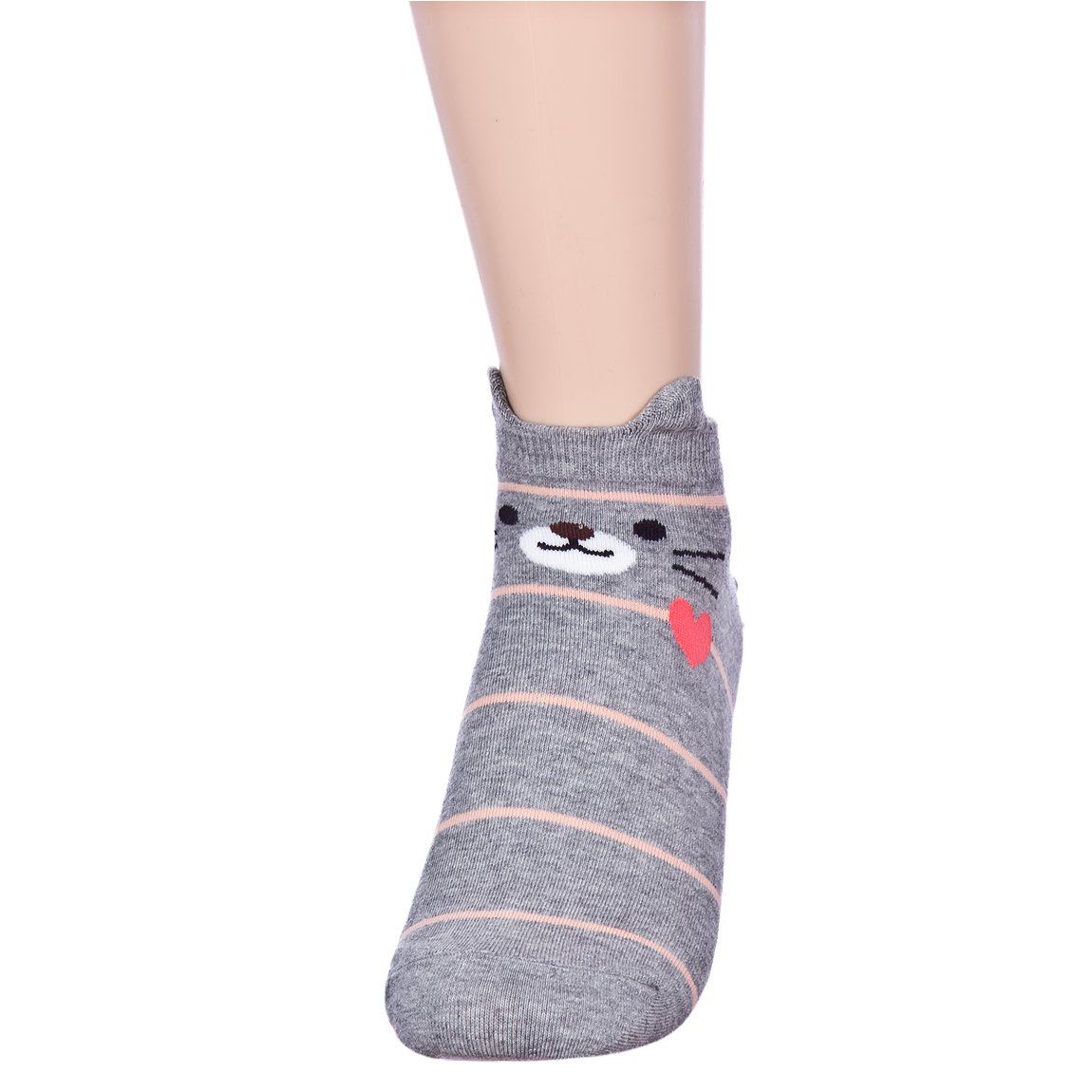 Fall in Love Animal Charater Casual Sneakers Socks (Onesize, 5 Pairs) by Dani's Choice (Image #3)
