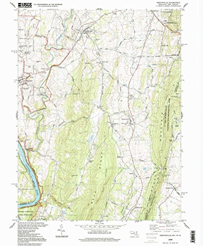 Keedysville MD topo map, 1:24000 scale, 7.5 X 7.5 Minute, Historical, 1994, updated 1999, 26.5 x 21.9 IN - - Map Mills Potomac
