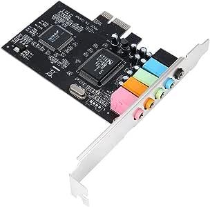 7.1 Surround Sound PCI Card Easy Convenient to Use 4 Channel 5.1 15-pin Surround 3D PCI Sound Audio Card for PC Windows XP//Vista//7 E.I.H