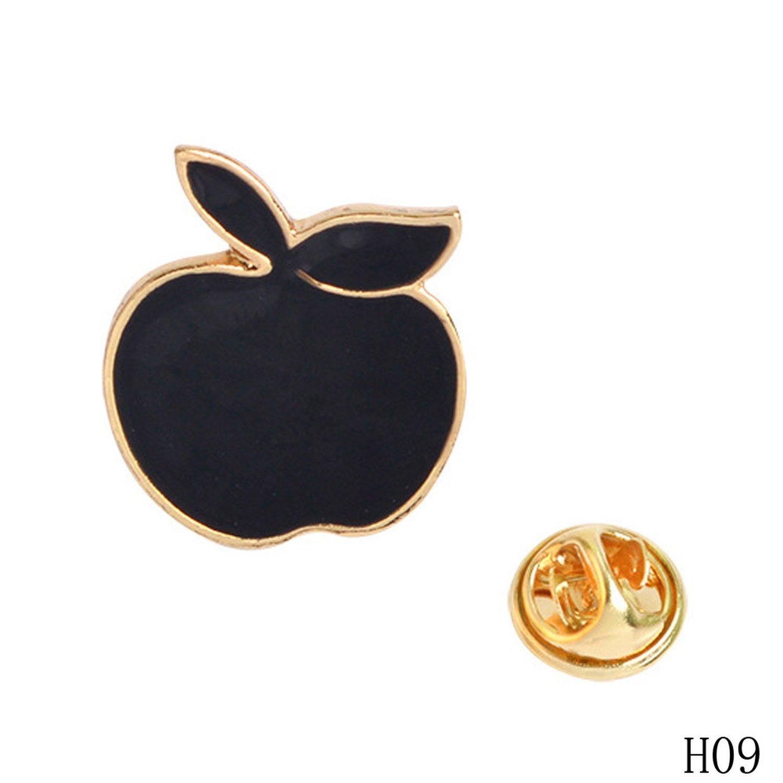 Cartoon Enamel Pins Fruit Pineapple Apple Brooches Pin Badges Cute Metal Animal Horse Brooches,9 by Baolustre (Image #1)