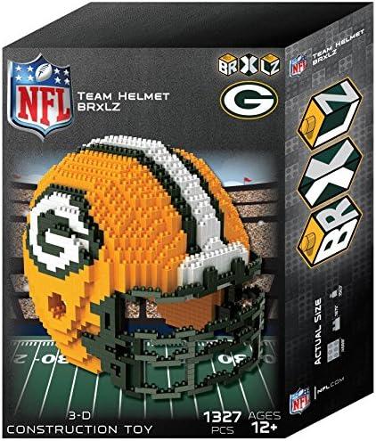 Green Bay Packers NFL 3D BRXLZ Construction Toy Blocks Set Helmet