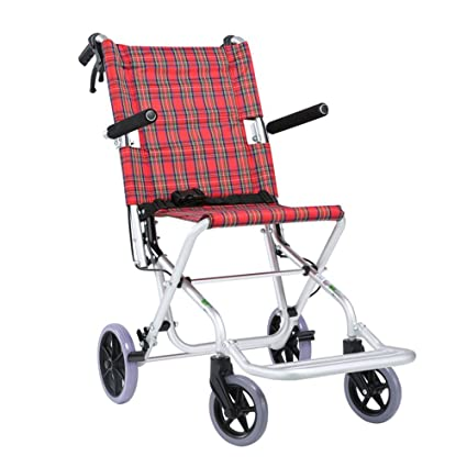 Amazon.com: Silla de ruedas, plegable, pequeña, portátil, de ...