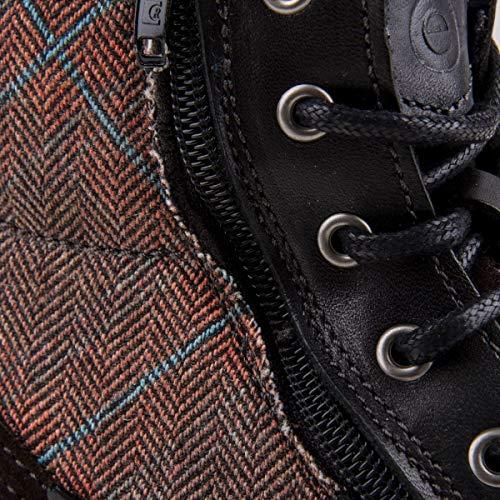 42 Uomo laterale Boots Orlando cerniera nero pelle in con 50dwYH