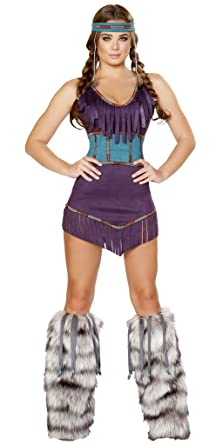 Musotica War Drum Indian Girl Halloween Costume - Purple - Small  sc 1 st  Amazon.com & Amazon.com: War Drum Indian Girl Halloween Costume: Clothing