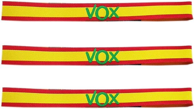 LTL 3 x Pulseras de Tela VOX, con los Colores de la Bandera de ...