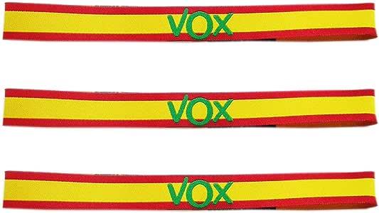 LTL 3 x Pulseras de Tela VOX, con los Colores de la Bandera de España. 29 x 1.50cm: Amazon.es: Deportes y aire libre