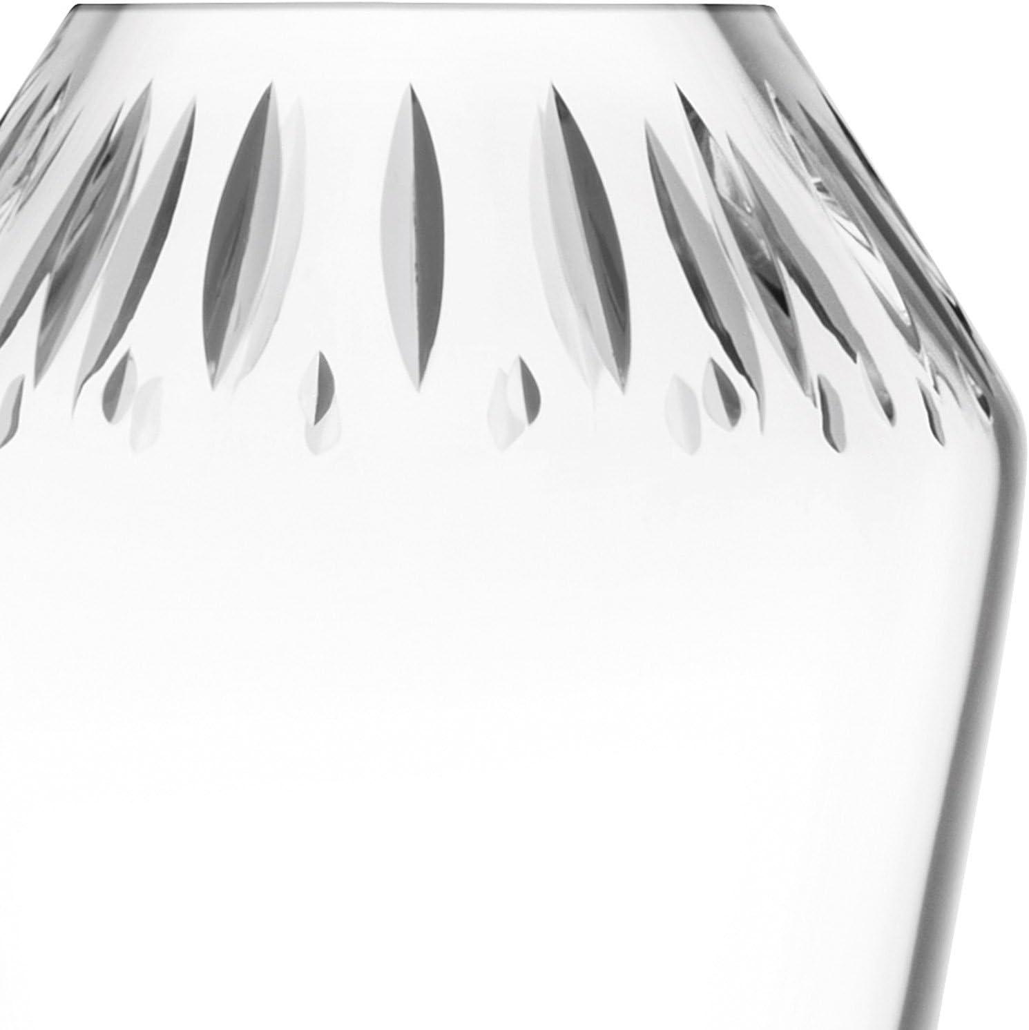 LSA International FF05 Frieze Tealight Holder H6.5cm Clear//Cut
