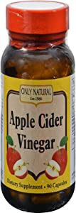 Only Natural Apple Cider Vinegar (500mg.), 90-Count