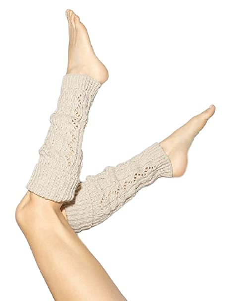 9d254620674d3 Amazon.com: Simply Vera Vera Wang Womens Double Cable-Knit Leg Warmers  (Sweet Cream): Clothing