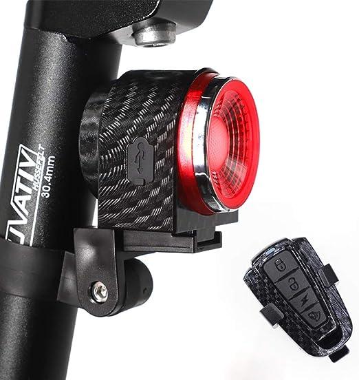 HUAXING Bicicleta Luz Trasera USB Recargable Bicicleta Luz Trasera ...
