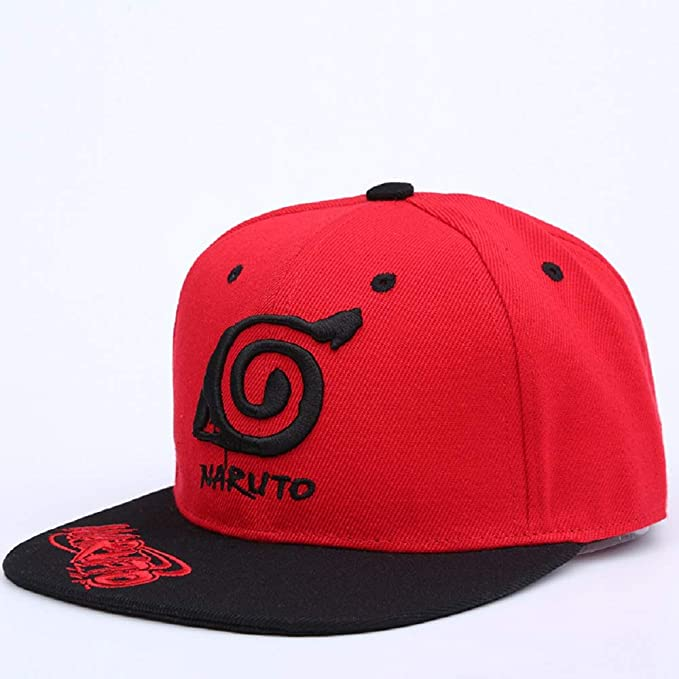 Anime Naruto Hat Cosplay Costumes Sharingan Cap Baseball Hip-hop Hat Hat Snapback Hat Hip Hop for Women Men Present Present Red at Amazon Men's Clothing store