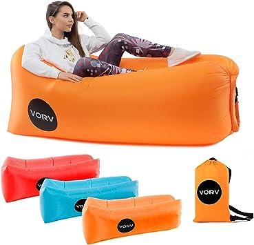 Amazon.com: Vorv - Tumbona inflable de aire | Hamaca ...