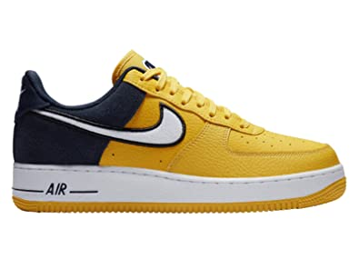 buy online e44ac 22919 Nike Men s Air Force 1 LV8 Amarillo White Obsidian Black Leather Casual  Shoes