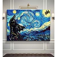 Vincent Van Gogh - Yıldızlı Gece Batman Tablo -60 x 80 Cm