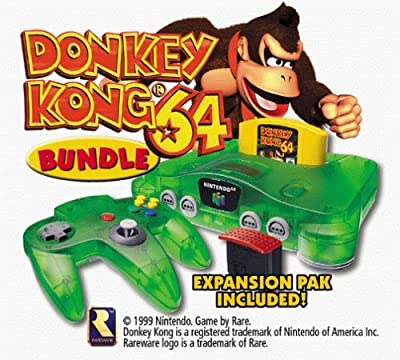 Nintendo 64 System - Video Game Console - Donkey Kong Bundle