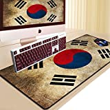 Huasen Korea Flag Mouse Pad Mat Desk Writing Mat for Office and Home