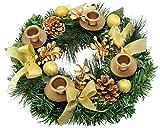 Traditional Christmas Advent Wreath. For Advent Calendar Season Candle Holder –Centerpiece Décor – Advent Candle Holder and X-mas Candles Decorations