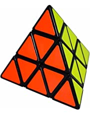 Coolzon® Triangle Pyramid Pyraminx Puzzle Magic Cube Toy 98mm, Black