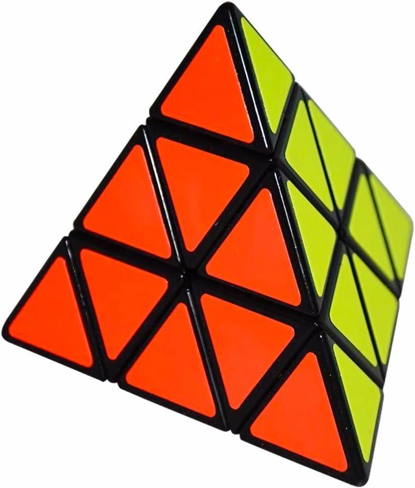 Coolzon® 3x3 Pyraminx Pyramid Cubo Magico Rompecabezas Triángulo Speed Magic Cube Juego de Puzzle Cube 98mm,Negro