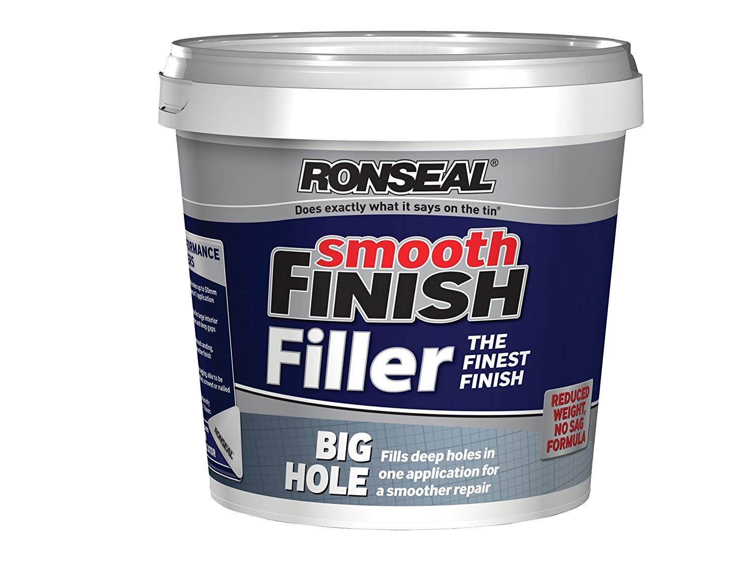 Ronseal BHF12L 1.2L Smooth Finish Big Hole Filler 6886418-HHW