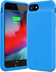 Battery Case for iPhone 6/6s/7/8/SE(2020),6000mAh Ultra Slim iPhone Charging Case, Portable Rechargeable Battery Pack Charging Case for iPhone 6/6s/7/8/SE(2020), (4.7inch)