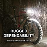 Bright-Eyes-FULLY-WATERPROOF-1600-lumen-Rechargeable-Mountain-Road-Bike-Headlight-6400mAh-battery-NOW-5-HOURS-on-Bright-Beam-Comes-w-FREE-DIFFUSER-LENS-and-FREE-TAILLIGHT