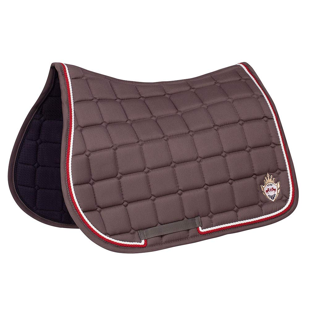 Culpepper   Charcoal Equine Couture All Purpose Saddle Pad   Horse Riding Equestrian Saddle Pad   Size- Standard