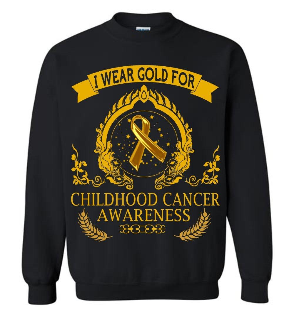 I Wear Gold For Childhood Cancer Awareness Crewneck Vb Shirts