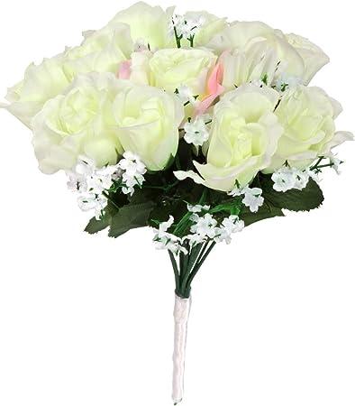 Fiori Bianchi Per Bouquet Da Sposa.Horror Shop Bianco Bouquet Da Sposa Bianco Accessori Per Costumi
