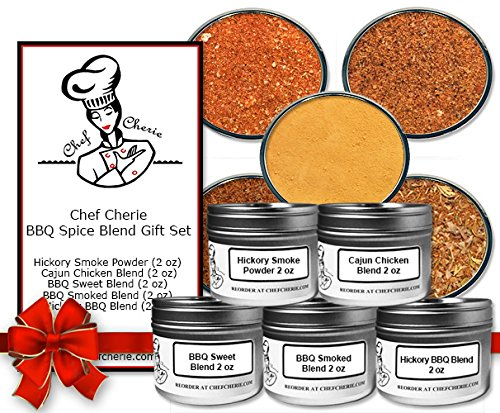 Chef Cherie's BBQ Spice Blend Gift Set-contains 5 - 2 Oz. Tins