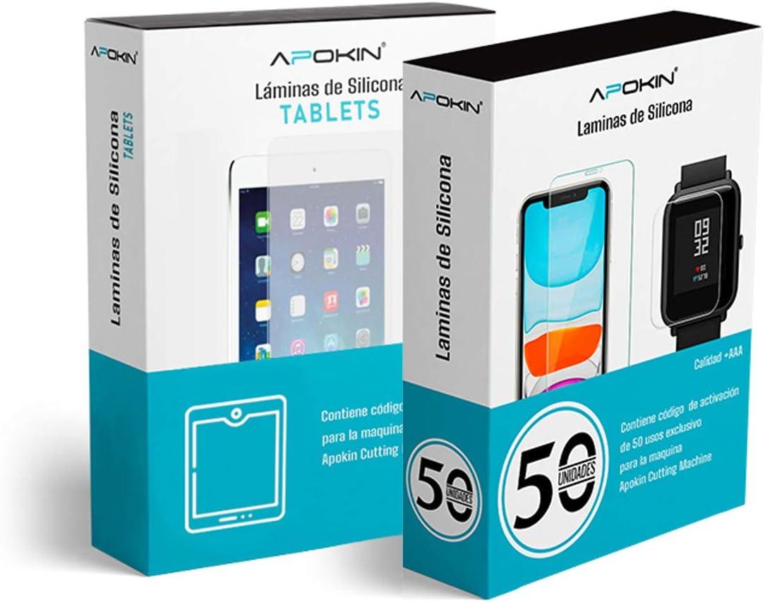 Plotter Hidrogel Apokin Maquina + 120 Laminas para Protectores de Hidrogel para Móviles Tablets, Smartband y Tablet: Amazon.es: Electrónica
