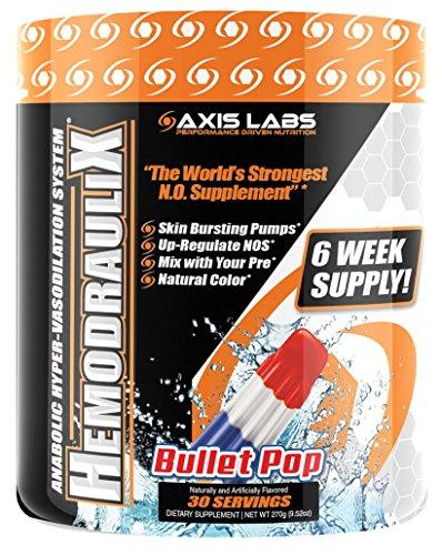Axis Labs HemodrauliX Nitric Oxide Pump Powder 30 Servings Bullet Pop
