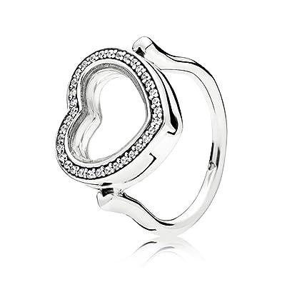 3479dbde3 Pandora Women Silver Piercing Ring - 197252CZ-58: Amazon.co.uk: Jewellery