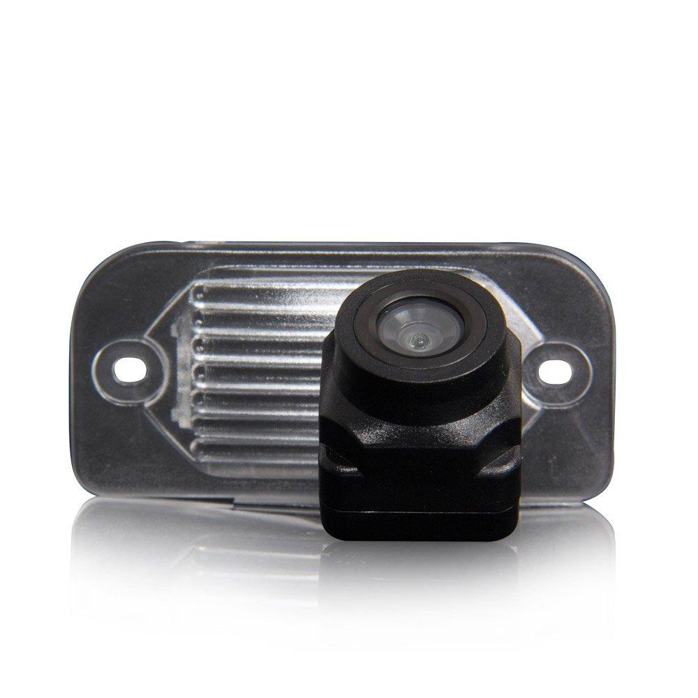 Dynavsal Color Vista posterior de la cámara cámara de visión trasera con líneas de cuadrícula como luz de la matrícula,ayuda sensor de aparcamiento para C Class W203 E-Class W211 CLS W219 W209