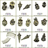 1 PCS Jewelry Making Charms Findings T3025 Hollow Lantern Jewellery Bronze Charme Supply Supplies Crafting Bracelet Wholesale Craft Alloys Lots Bulk Necklace Antique Retro DIY