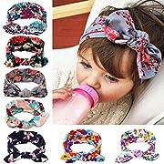 Itaar Baby's Headband Hair Bands Set floral headwear with Cute Rabbit Ear - 7PCS