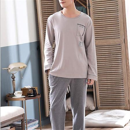 DUXIAODU Camisón de algodón para Mujer | Tela Suave y Transpirable,Pijama de Manga Larga de algodón Peinado A-Hombres-3 XL: Amazon.es: Hogar