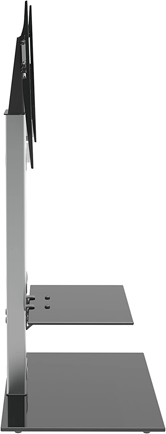 Silver AVF FSL700LES-A Media Component Lesina TV Floor Stand with Mounting Column for 32 to 65