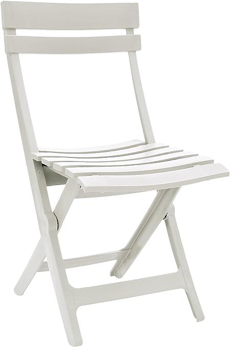 GROSFILLEX Chaise Pliante Miami, Blanc, 50 x 42 x 80 cm