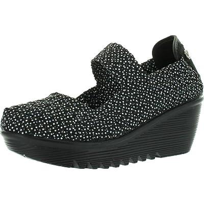 Bernie Mev Womens Lulia Casual Wedge Shoes, Black Polka Dot, 40 | Pumps