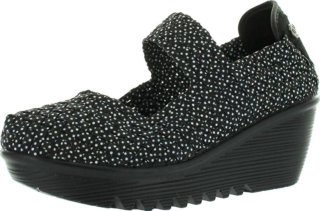 Black Polka Dot Bernie Mev Women's Lulia Wedge Pump