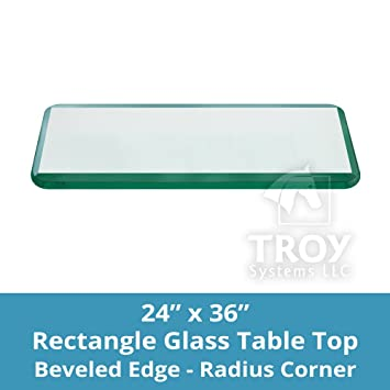 Amazoncom Rectangle Glass Table Top Custom Annealed Clear