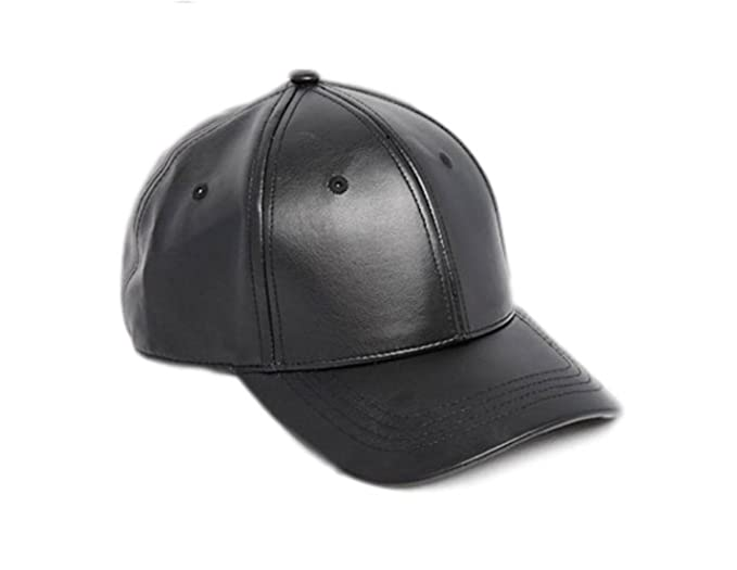 b911d62761f Image Unavailable. Image not available for. Colour  SAIFPRO Leather Black  Baseball Caps for Men and Women