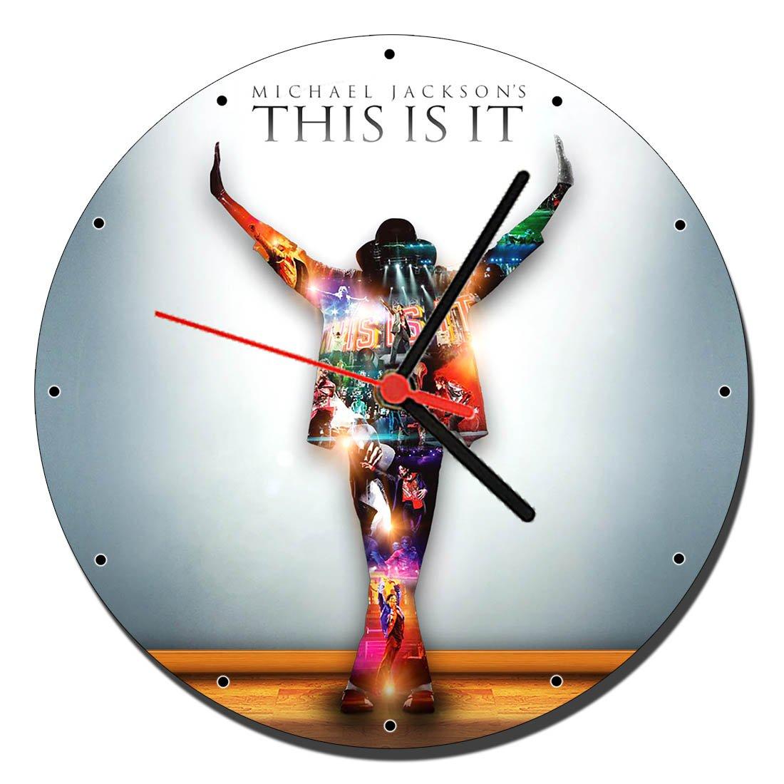 MasTazas Michael Jackson This Is It Wanduhren Wall Clock 20cm ...