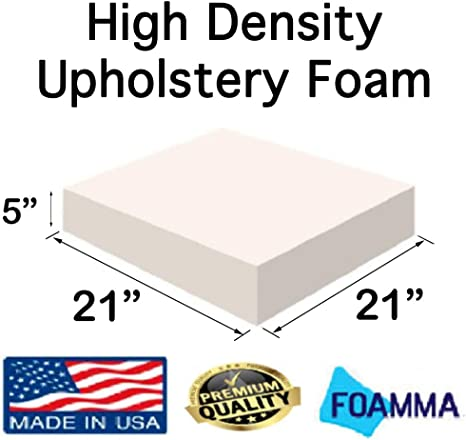 GoTo Foam 6 Height x 30 Width x 96 Length 44ILD Upholstery Cushion Made in USA Firm