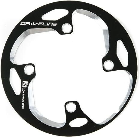 Bike Bicycle Replacement Chainguard Bashguard Chainring Protector 42 Teeth Black
