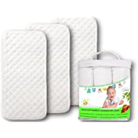 Premium Changing Pad Liners | Waterproof Antibacterial & Hypoallergenic | Machine Wash & Dry | Reusable Bamboo Softest Change Table Cover | Portable Travel Mats | 3 Pack Large 26 X 12.5 Bubbawarez?
