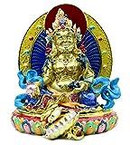 Bejeweled Yellow Dzambhala Statue
