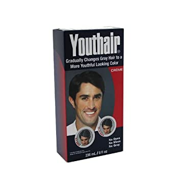 Amazon.com : Youthair for Men Hair Color & Conditioner Creme 8oz ...